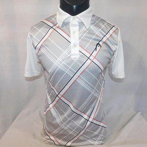 Head Mens S White Silver Tennis Polo Shirt